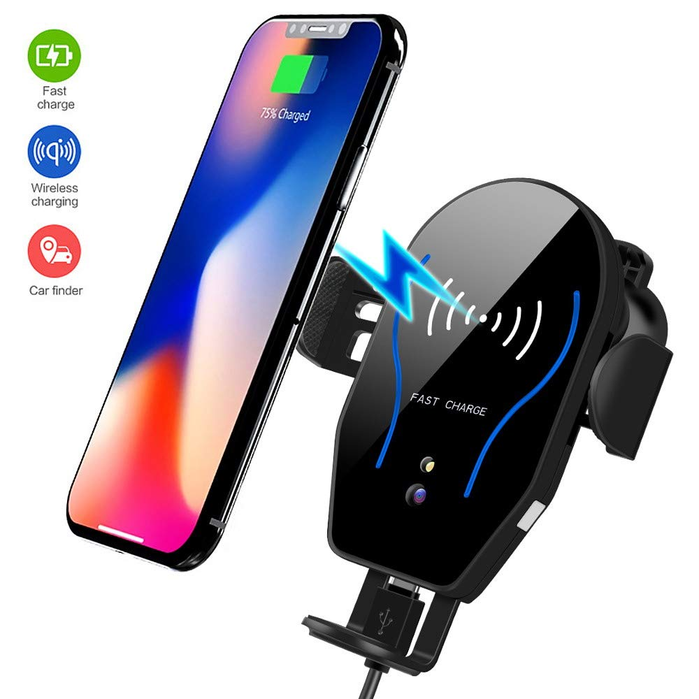 LCJ 10W //7.5W Wireless Car Charger Automatic Clamping Air Vent Phone Mount Holder Compatible Samsung Galaxy Note8//S10//S9//S8//S8+,iPhone Xs//Xs Max//XR//X 8//8 Plus