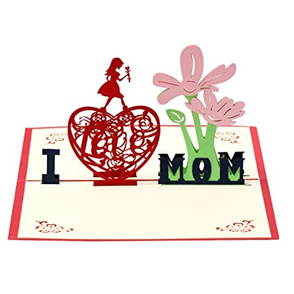 Amazon.com : Birthday Card for Mom, Mothers Day Card, 3D ...