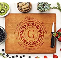 Custom Engraved Personalized Cutting Board Perfect For Housewarming, Wedding, Real Estate, Family Gifts