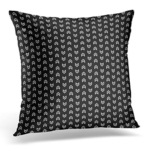 Kjalioeig-Throw Cushion Pillow Covers Pattern Design with Mini Angle Brackets Repeated Chevrons Pointers Zigzag Strokes Jagged Triangular Waves Comfortable material Size: 18x18 (Wash Crown Mini)
