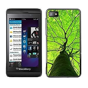 TopCaseStore / la caja del caucho duro de la cubierta de protección de la piel - Green Tree Summer Nature Spring - Blackberry Z10