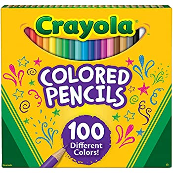 Crayola Colored Pencils, 100 Count, Adult Coloring