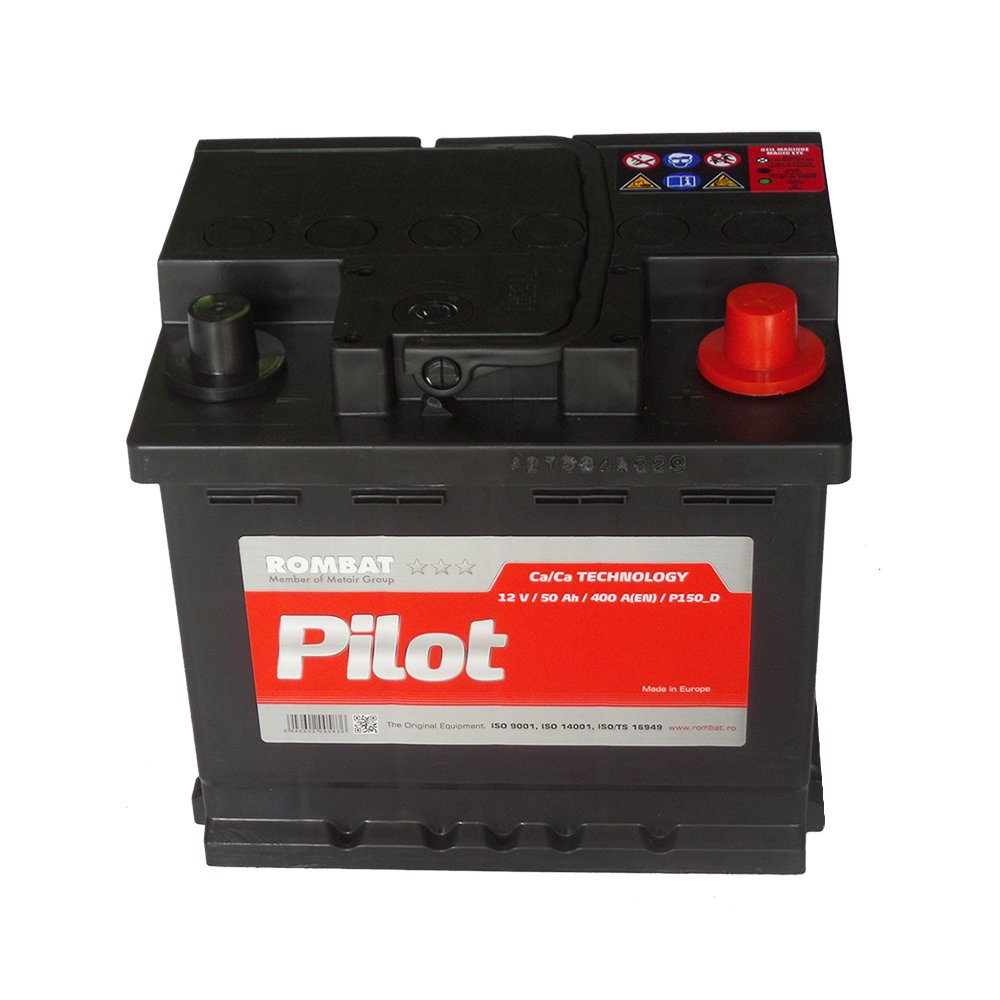 Batterie voiture 12v 50ah 400A 207x175x190 rombat