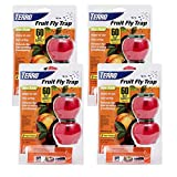 Terro Fruit Fly Trap (4 pack) - Includes The SJ pest guide eBook