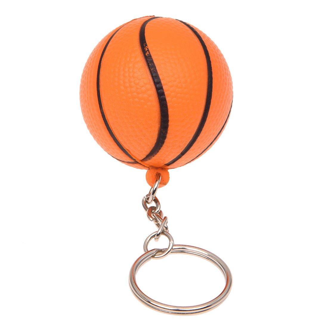 R TOOGOO Llavero de division Cadena de llave encanto decoracion de forma del baloncesto naranja