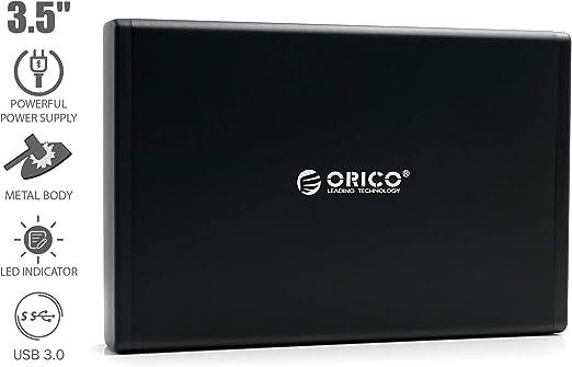 ORICO 7688U3 USB 3.0 Externe Festplatte 1TB 3,5 SATA III Festplatte Backup HDD 64MB Cache mit USB 3.0 Kabel und 12V 2A Netzteil f/ür PC Notebook unterst/ützt Windows Mac OS Linux Laptop