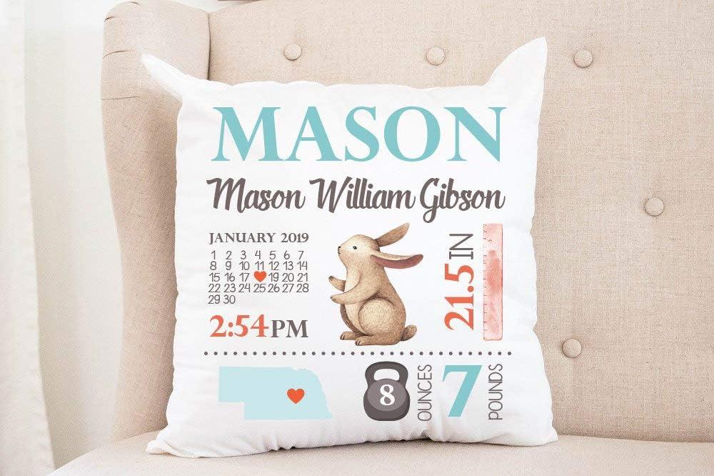 3Funk Boy Birth Announcement Pillow