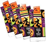 Halloween Kitchen Towels - Pack of 4 100% Cotton Dish Towels (Trick Treat - WItch in the Moon)