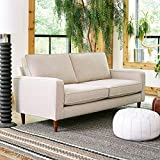 Sofab Camden Series 2-Seat Sofa, Modern Living Room Couch with Sturdy Wood Frame Construction - 73' W, Beige