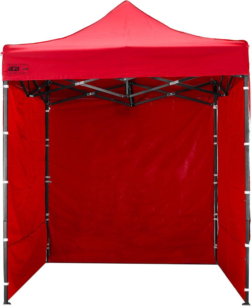 Aga24 Pavillon Pop up 2x2 m, Partyzelt, Gartenzelt, Falltzelt, Verkaufsstand, Marktstand, Festzelt (Rot)