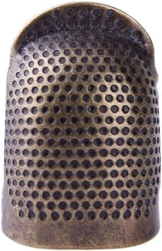 Candybarbar Retro Handarbeit N/ähen Fingerhut Fingerschutz Ring Nadel Metall Messing Fingerhut Nadeln N/ähzubeh/ör
