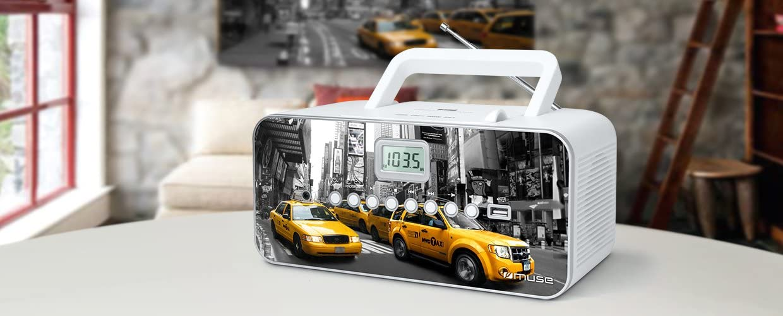 Muse M 28 Ny Cd Radio Tragbar Pll Ukw Radio Mw Tuner Senderspeicher Usb Mp3 Wiedergabe Netz Oder Batteriebetrieb New York Audio Hifi
