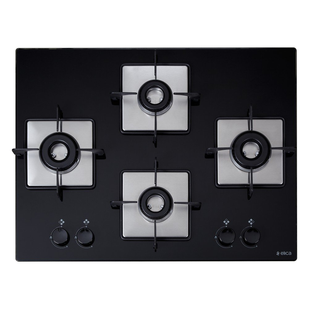 Elica Hob 4 Italian Burner Auto Ignition Glass Top - 2 Big