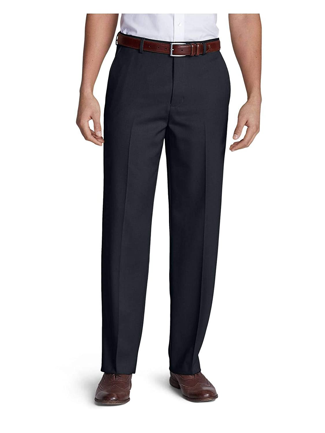 Eddie Bauer Men's Relaxed Fit Flat-Front Wool Gabardine Trousers 30043