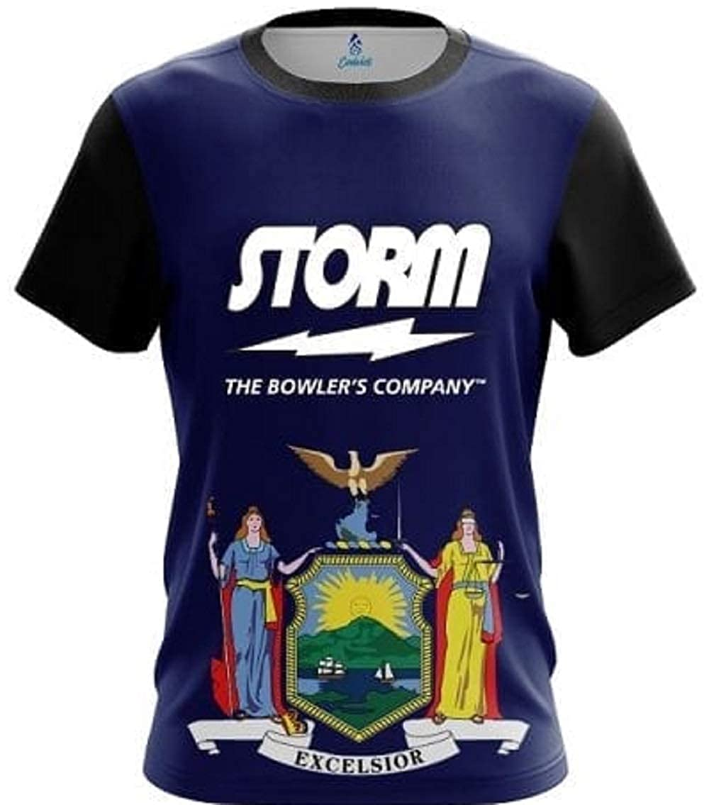 CoolWick Storm New York Flag Bowling Jersey