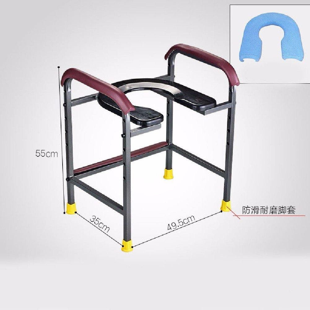 HQLCX Handrail U Type Commode Chair Toilet Toilet Chair The Elderly Pregnant Women Mobile Toilet Stool Bath Chair