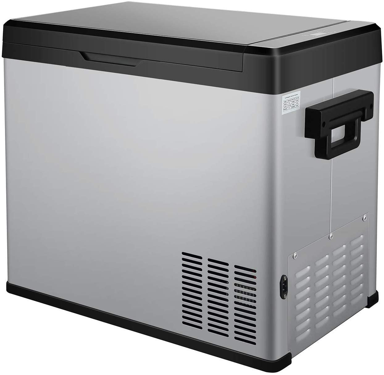 54 Quart RV Refrigerator/Freezer Compact Vehicle Car Fridge Compressor Electric Cooler for Car,Truck,RV,Boat,Outdoor and Home use 12/24V DC and 90-250 AC,Cooling from 68°F to -13°F