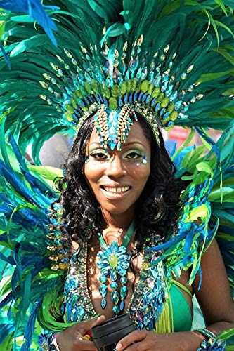 Home Comforts Canvas Print Notting Hill Headgear Costume Carnival Festival Vivid Imagery Stretched Canvas 32 x 24