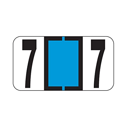 AMZfiling Numeric Labels- Number 7 Reynolds /& Reynolds RF Compatible Polylaminated, 500//Roll Light Blue