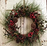 Old Fashion Christmas Door Wreath