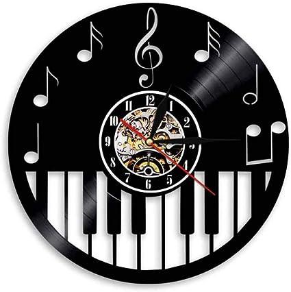 TIANZly Reloj de Pared Teclado de Piano Decoración para el ...