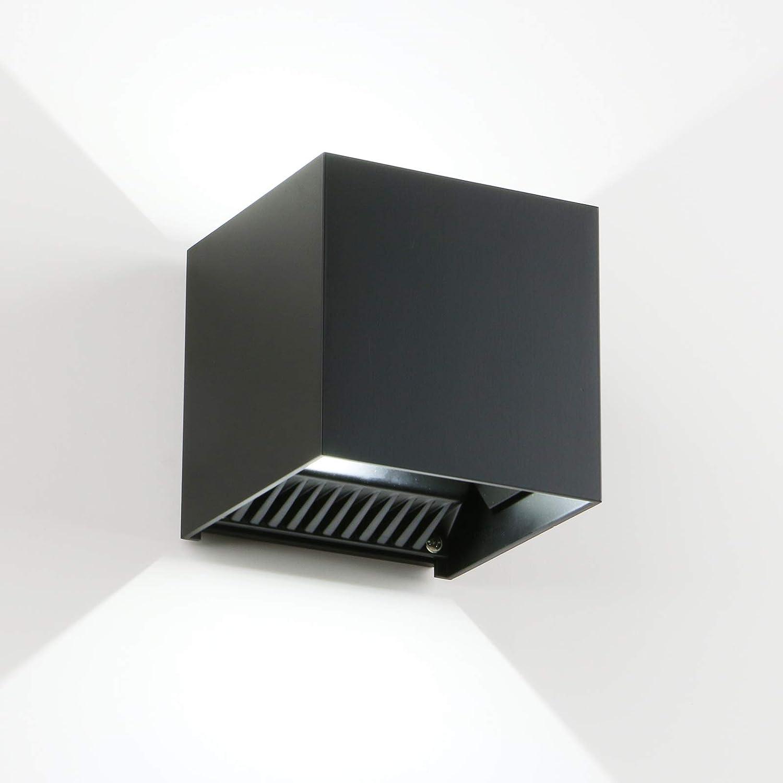 LED Cube Exterior Aluminum IP65 Waterproof Wall Lamp, Yosoan 6000k 4.7