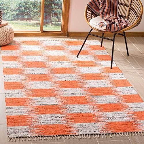 Safavieh Montauk Collection MTK721B Orange and Multi Area Rug 8 x 10