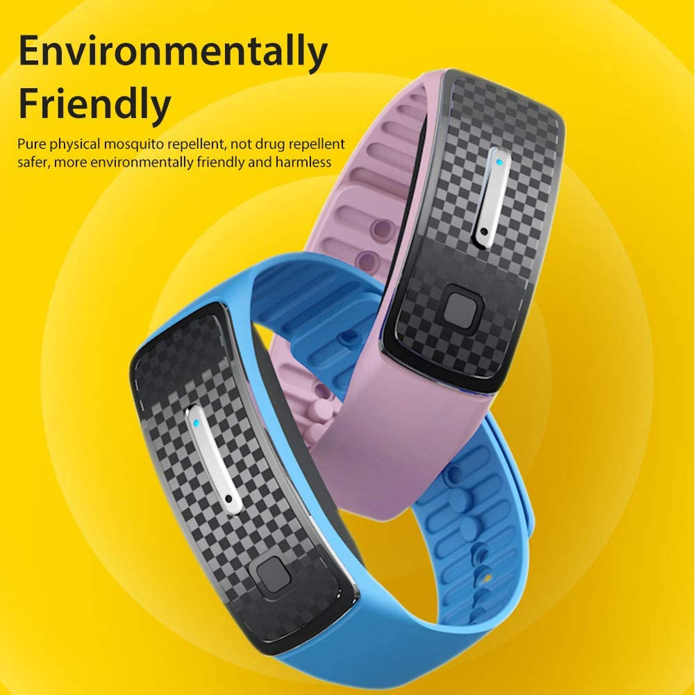 Akemaio Mosquito Repellent Bracelet Mosquito Bands Ultrasonic Pest Repeller Wrist Band Anti Mosquito Wristband Protection for Pregnant Kids Babies Blue