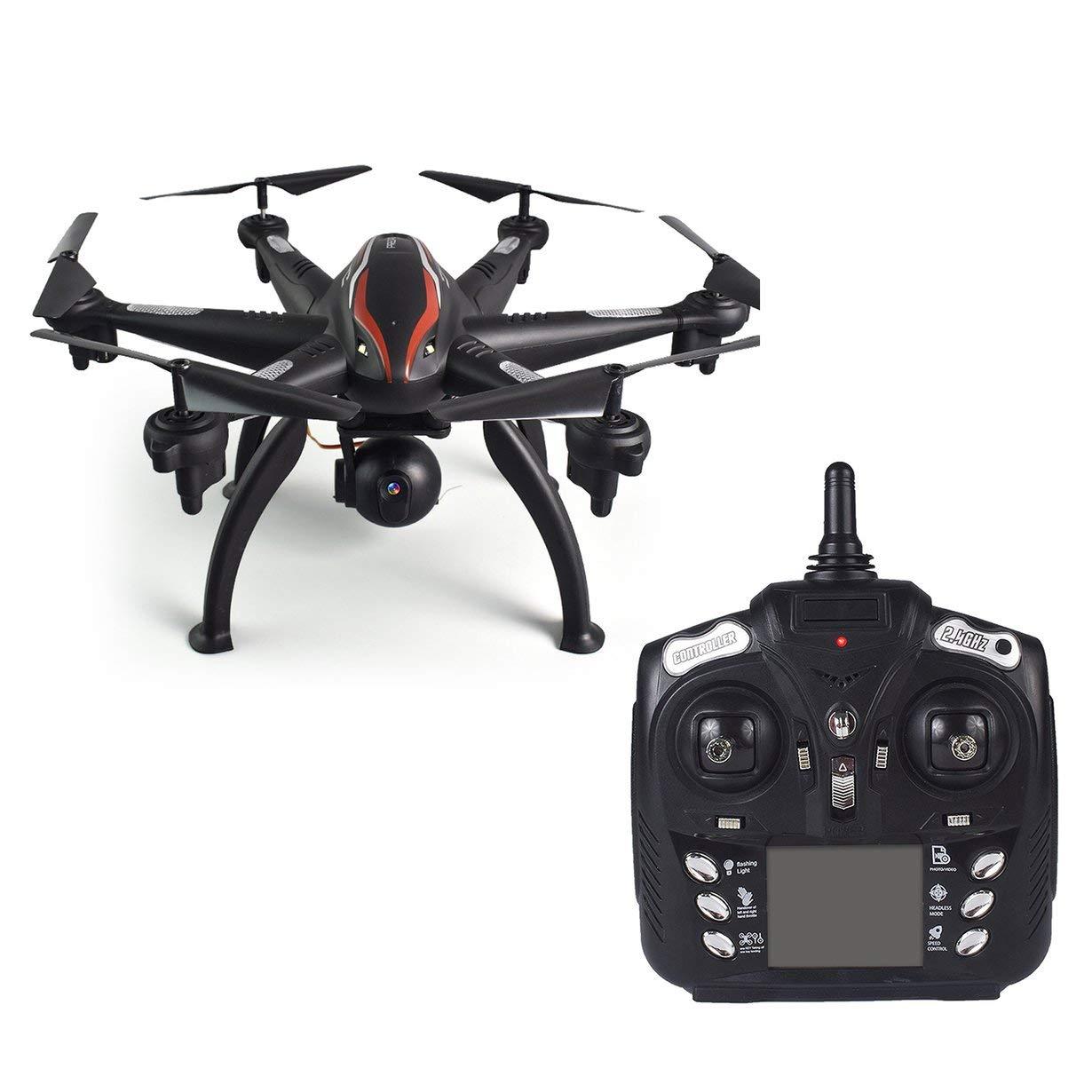 100% precio garantizado Comomingo L100 6-Axis 720P Gran Angular 2.4G RC Drone Drone Drone Quadcopter Aviones WiFi FPV GPS (Negro)  Mejor precio