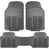 FH Group F11306GRAY Gray All Weather Floor Mat, 3 Piece (Full Set Trimmable Heavy Duty)