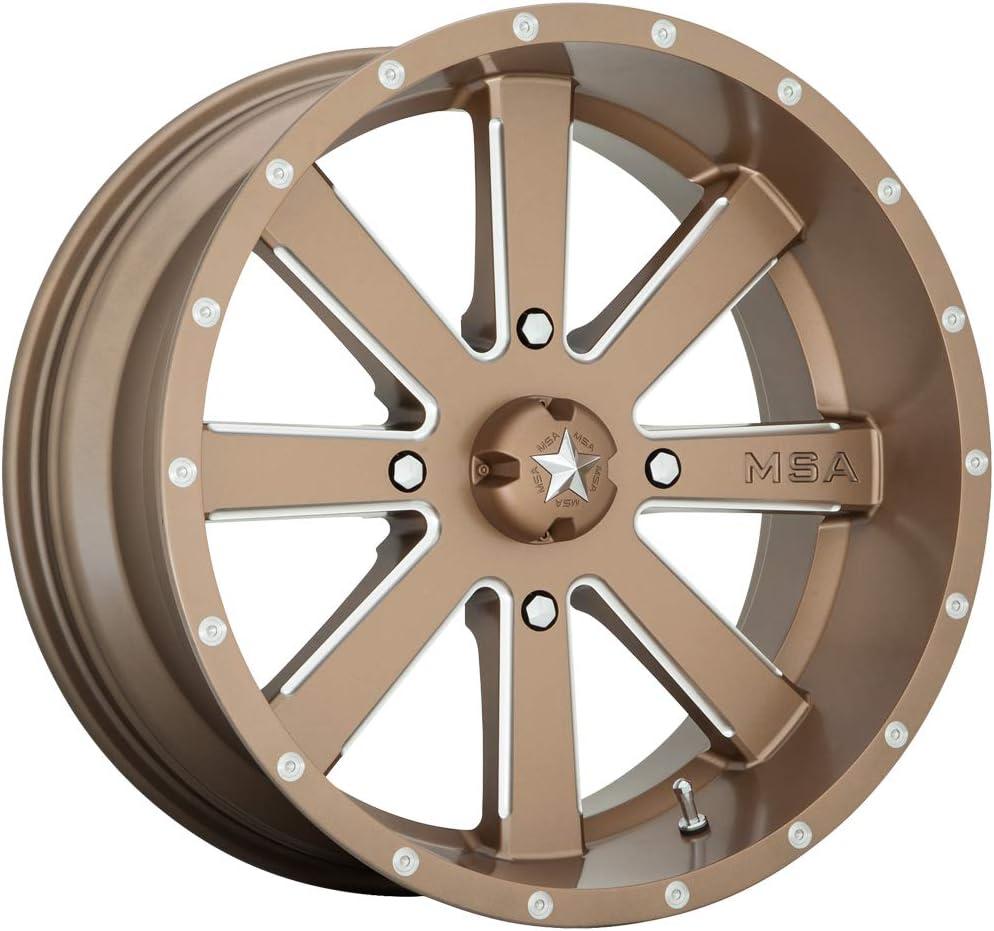 0 mm MSA OFFROAD WHEELS Flash 20x7 4x137.00 Bronze Milled