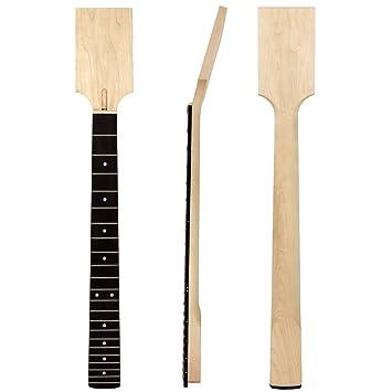 Guitarra eléctrica cuello DIY parte pendientes de Canadá arce diapasón de palisandro 22 trastes: Amazon.es: Instrumentos musicales