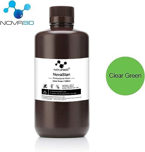 NOVA 3D LCD UV 405nm Rapid Resin for Photon impresora 3D: Amazon ...