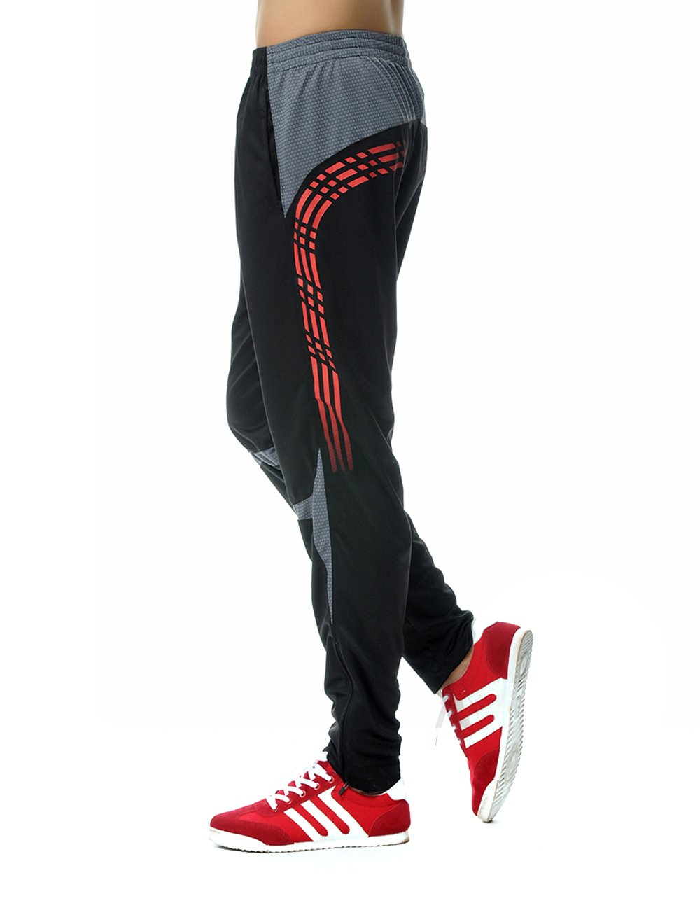 ORANSSI Mens Active Pants with Zipper Ankle