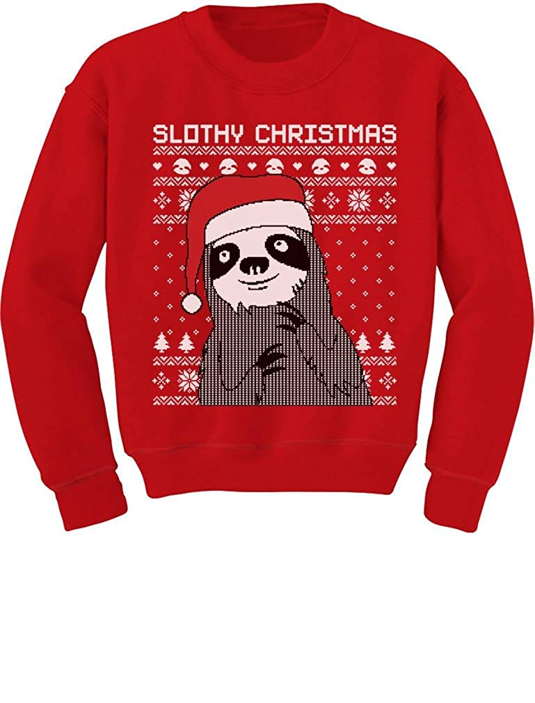TeeStars - Slothy Christmas Ugly Christmas Sweater Cute Toddler/Kids Sweatshirts GhPharZgf5