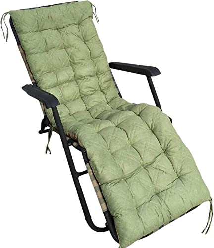 OctoRose Soft Micro Suede Deluxe Outdoor Recliner Chair Cushion Pad, Bench Slipcover, Patio Long Chair Pads 17×75, SageGreen