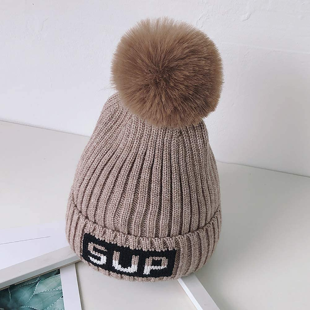 MMBABY Baby Hat Cute Bear Toddler Earflap Beanie Warm for Fall Winter