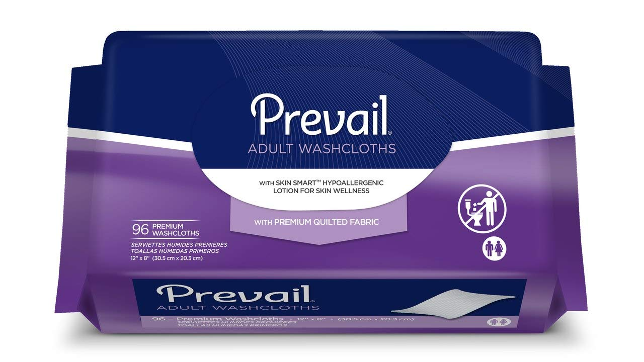Prevail large adult washcloths refill 96 count (3 Pack)