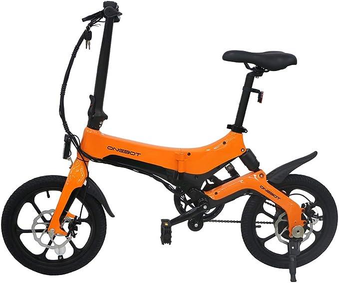 WoRamy Bicicleta Eléctrica, ONEBOT S6 E- Bike Plegable, 250 W ...