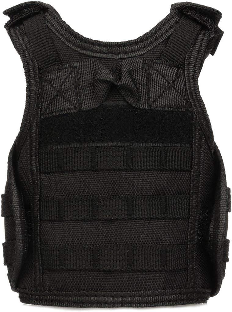 73JohnPol Tactical Vest Schicht Military Bierflasche Abdeckung Getr/änkek/ühler Mini Molle Weste verstellbare Schultergurte f/ür Bottle Can Farbe: grau