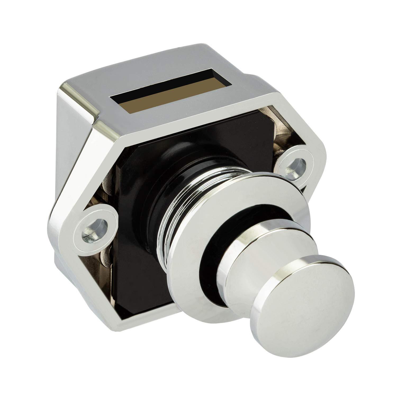 LESOLEIL 2 St/ück Push Door Lock Button Catch Door Locks Verriegelung Schrankknopf Locks f/ür Caravan Camper Motorhome Champagner Gold