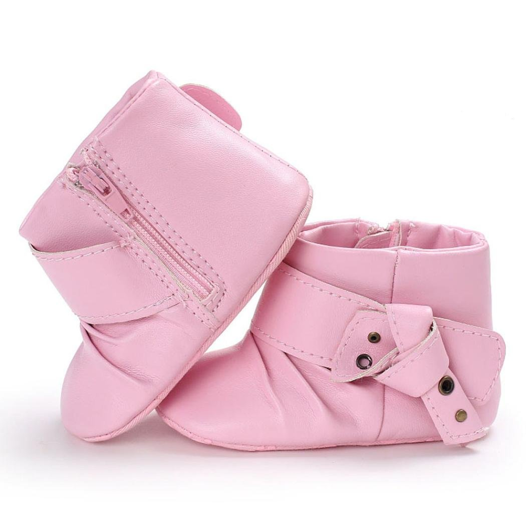 Gotd Baby Girl Soft Sole Booties Snow Boots Infant Toddler Warming Shoes