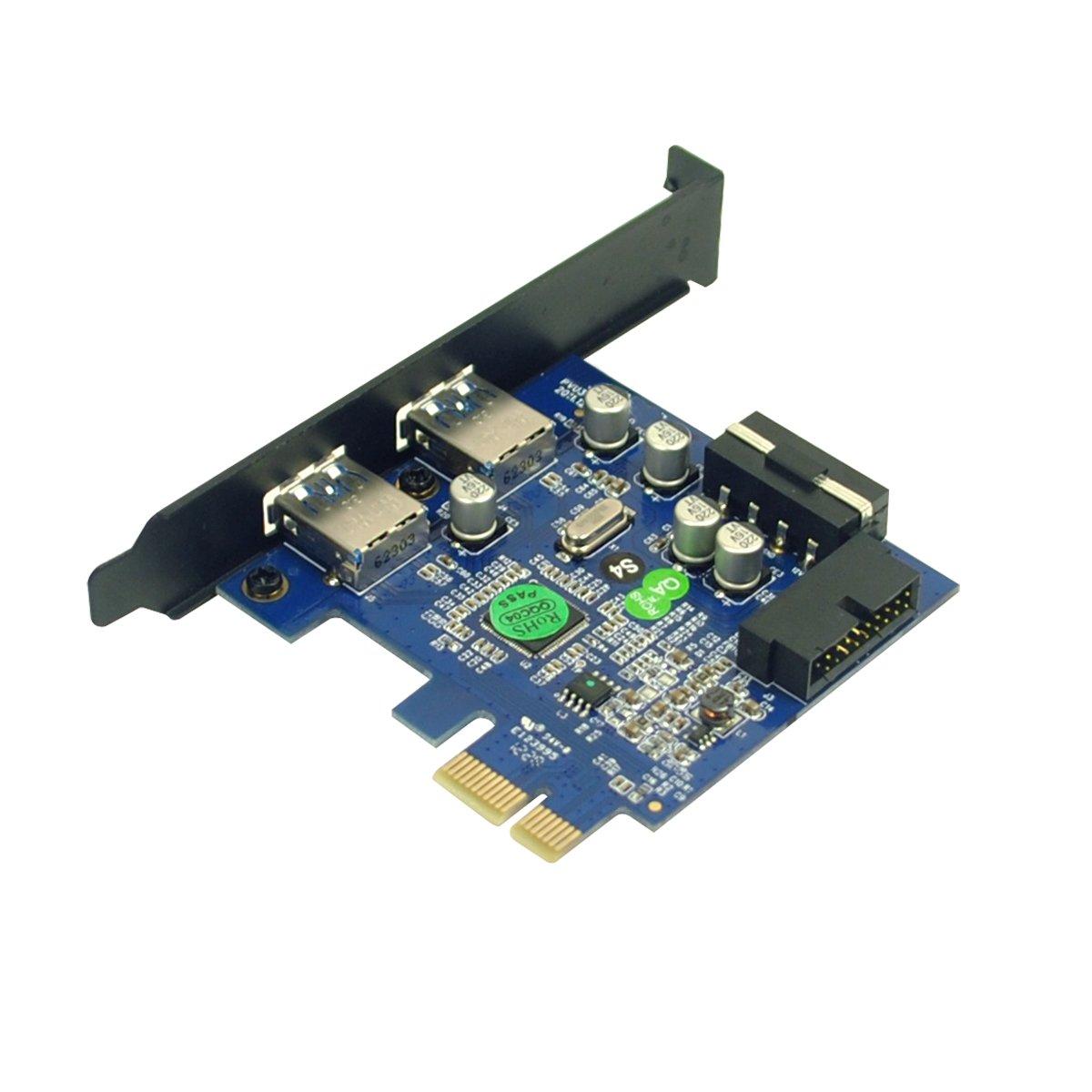 5/V//4/Broches Male Power Connector Incluse dans la Livraison Ancre Uspeed Carte PCI-E vers USB 3.0/2/Ports Express Card avec 1/USB 3.0/20/Broches m/âle