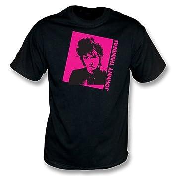 Johnny Thunders - La camiseta de la foto Xx-Grande, colorea negro