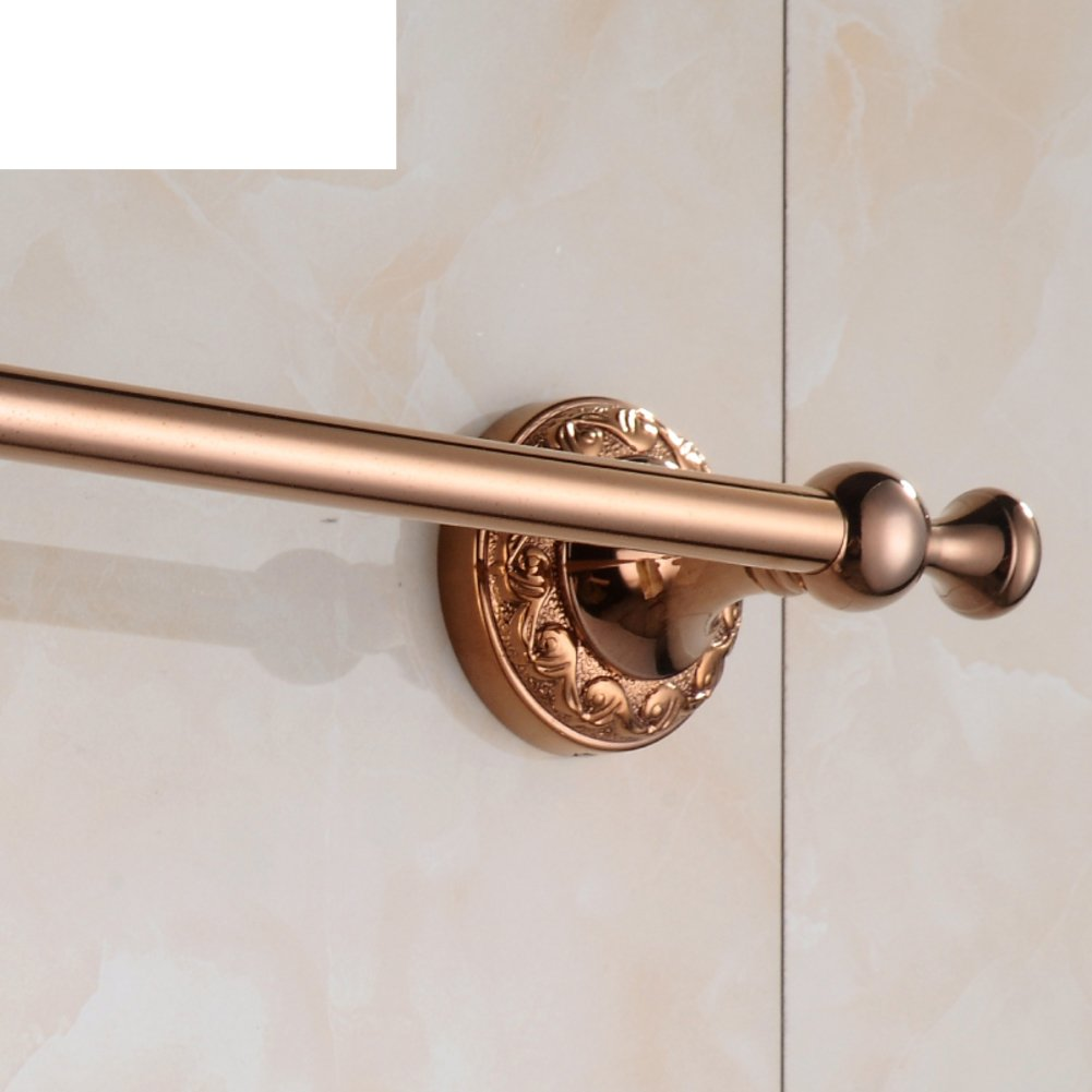 hot sale 2017 Bathroom copper rose-gold-plated towel rail/continental carved bar/towel rack/Bathroom/toilet metal pendant-B