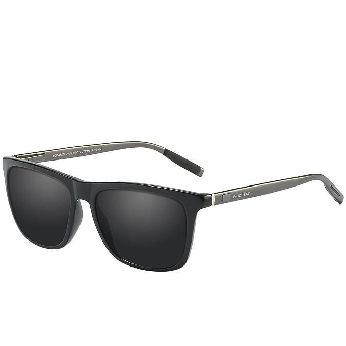 WHCREAT Gafas De Sol Polarizadas Retro Unisex Diseño De Moda Vintage Conducción Ultra Espejo Lente Espejada