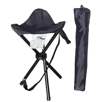 1 Personne Tabouret De Camping Chaise Pliable De Camping Chaise De Plage Antidérapant Vestimentaire Métallique PVC Pour Pêche Camping