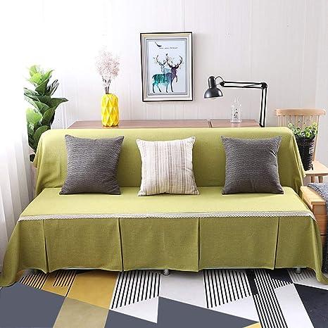 Bcxiu Funda de sofá de encaje vintage, cubierta de sofá ...