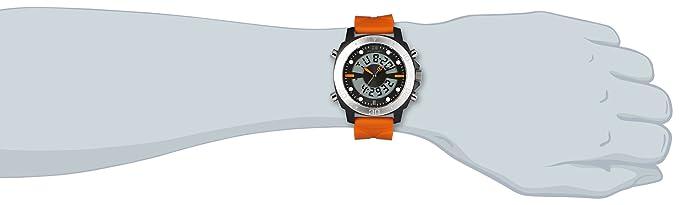 3f45cfe28 Hugo Boss Men's 46mm Orange Silicone Band Steel Case Quartz Analog Watch  1512681: Amazon.co.uk: Watches