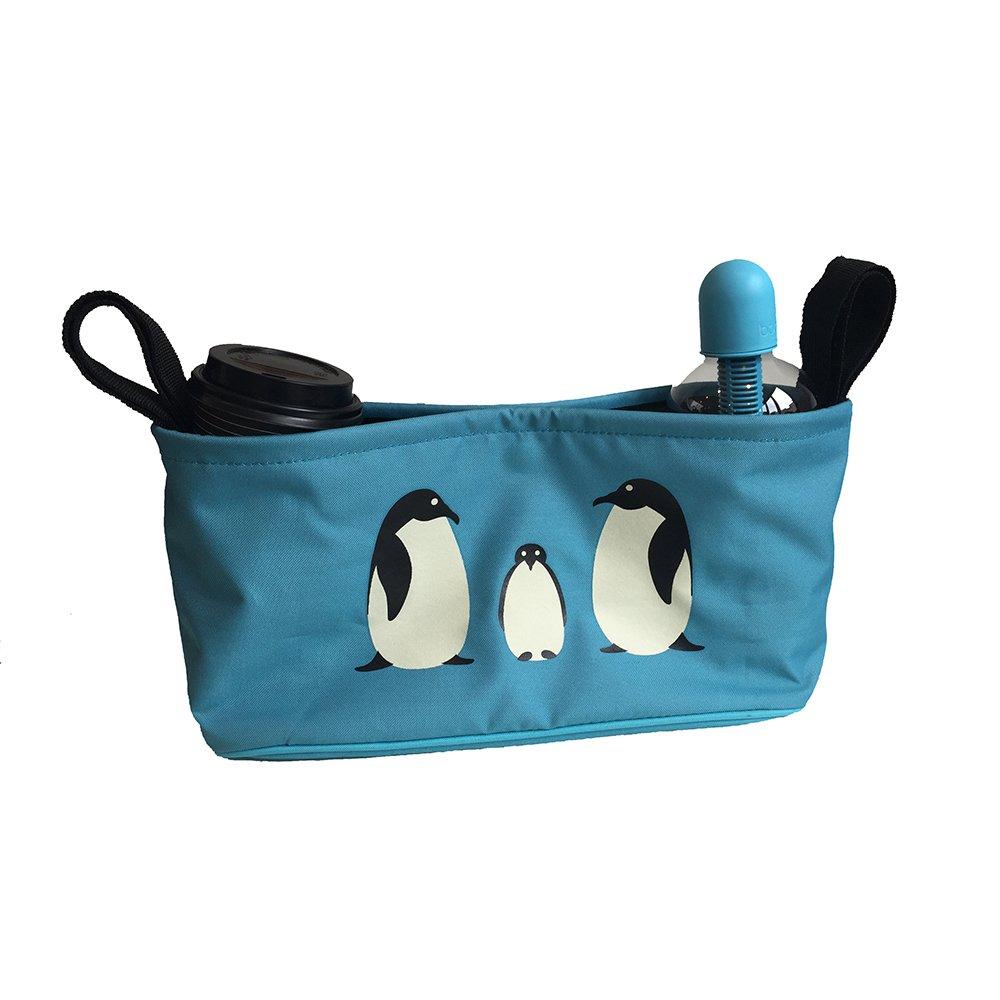 BundleBean - Buggy-Organizer - Wickeltasche - passend für die Griffe von Kinderwagen/Buggy/Sportwagen oder Rollstuhl - Flamingos BBBOFLM